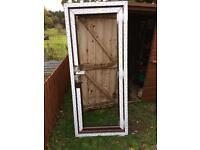 Mahogany door and frame upvc 2020x865