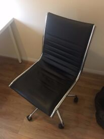 Stunning Chrome & Leather Office Chair RRP £119.99