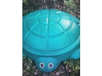 Turtle shape sandpit with lid