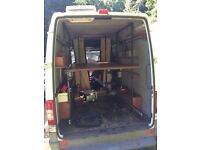 Steel frame for van conversion suitable for motorcross outdoor sports conversions