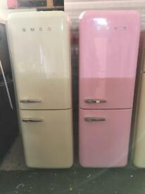 PASTEL PINK SMEG FAB32 FRIDGE FREEZER + warranty. Can deliver.