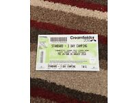 Creamfields standard 3 day camping ticket mon-fri