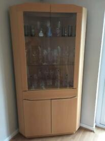Skovby Corner Display Cabinet