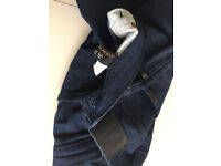 Men's Nudie Jeans Co - Organic Jeans W31 L32 - Slim fit navy with orange labelling - Great Condition