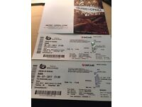 2 Gold tickets for Aida at Verona Arena Opera on 5th July 2017 £200- Face value Euro 348