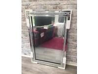 Stunning crushed crystal mirror, 1200mm x 800mm.