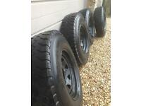 X4 off road wheels & tyres, Land Rover.