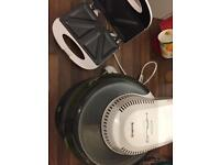 Breville halo dry fryer and a toasted sandwich maker.