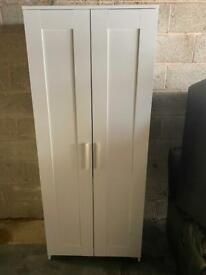 WHITE WOODEN WARDROBE IN EXCELLENT CONDITION