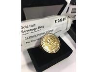 Half Sovereign Gold Ring