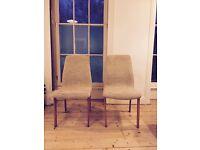 Vintage retro danish dining chairs x2