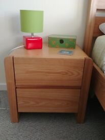 Bedside table × 2 (solid ash wood)