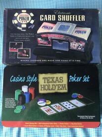 Electronic Card Shuffler & Poker Set