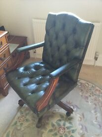 Captain Green Leathers chair