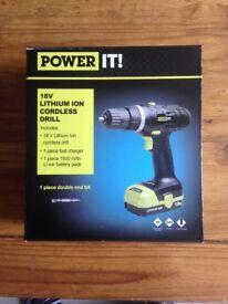 18v cordless drill (new)