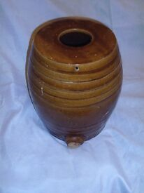 Vintage treacle glaze spirits barrel