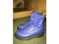 Dr.martens boots electric blue !!!!!