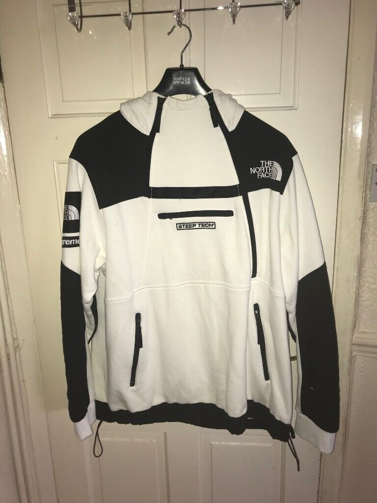 88b14ed23 Supreme X North Face White Steep Tech 1/4 Zip Pullover Hoodie XL | in  Reading, Berkshire | Gumtree