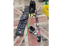 !NEED GONE FAST! Twin tip Juvy 149 Skis with Boots Poles and other accessories