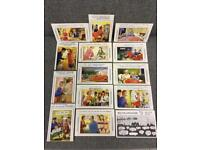 32 Vintage Retro Advertising Risque Adult comedy Seaside Postcards by Bamforth rare 1950/1960s SDHC