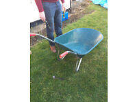 Wheelbarrow - wheel needs puncture repair, otherwise sound and in good condition