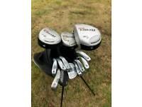 Dunlop 65 golf club set, carry bag and rain cover