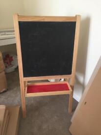 Kids black/white board £10