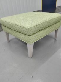 CLEARANCE Sofa com Club square footstool ottoman puffe in spring green / free delivery