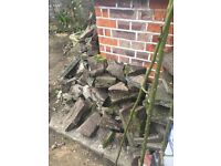 Free hardcore or small paving slabs from NW10