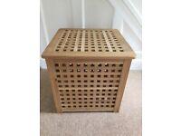 Ikea wooden 'Hol' storage cube