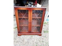 Glass fronted Book case