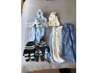 0-6 month baby boy bundle and 4 sleeping bags