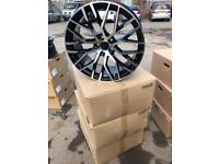 "4 20"" alloy wheels alloys rims tyres to fit vw Volkswagen seat Skoda Audi A4 a5 a6 5x112"