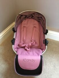 Icandy peach 3 lower seat unit in marshmallow