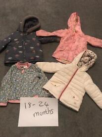 Bundle of coats 18-24 months