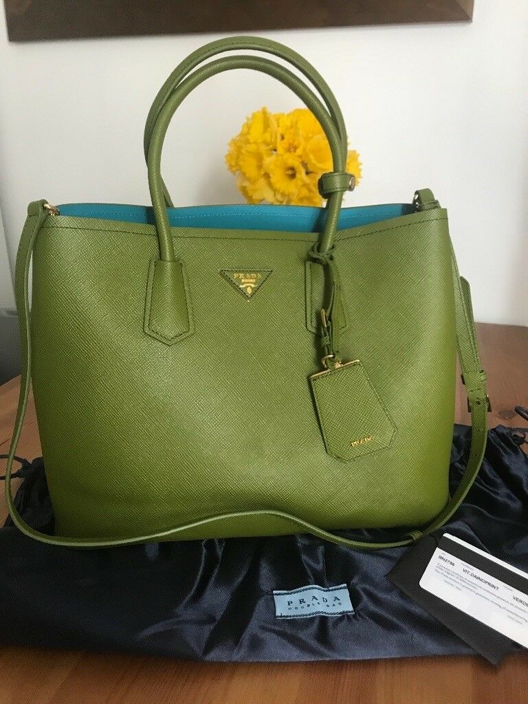 23180882b399 Prada bag green/Teal with cards | in Glasgow City Centre, Glasgow ...
