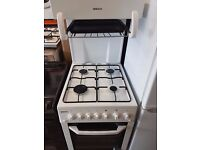 Beko Eye Level Grill Gas Cooker, White