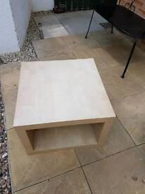 Beech table with shelf underneath