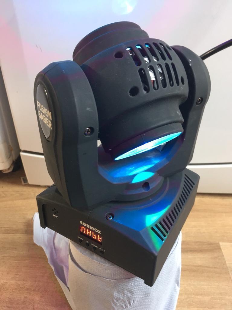 Equinox moving head led saber fusion Dj light disco. Very good condition
