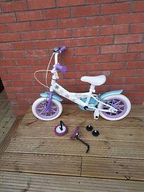 """Disney Frozen 12"""" Bike with stabilizers"""