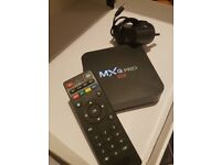 ANDROID tv video box player MXQ PRO 4K with remote
