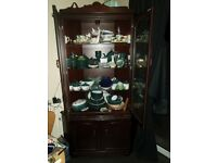 Display Cabinet,Dark Wood.