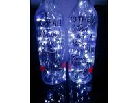 Personalised light wine bottles
