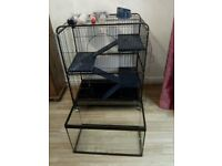 Small animal cage and glass tank