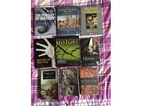 History books - perfect for uni