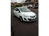 Corsa white 1.0 eco flex FDSH 18k low insurance and road tax