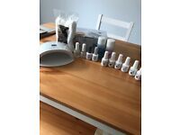 Gelish set for sale. Including PH bond, foundation, top coat & oil. Also come with 6 gelish colours
