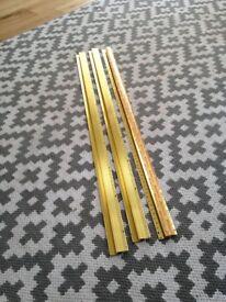 Brass effect thresholds x 3 (90cm x 4.5cm)