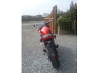 Kawasaki ER-6f immaculate condition. Low mileage. Selling due to ill health.