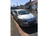 Renault Megane GTLine in silver with air con, sat nav, reversing camera and part leather